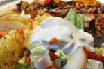 Salat med nektariner - nem grøn salat opskrift
