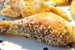 Mør helstegt kylling med soya, citronsaft og sesam