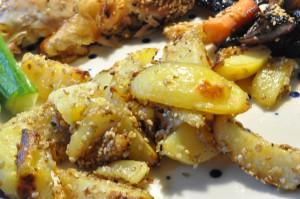 Helstegt kylling med soya, citronsaft og sesam