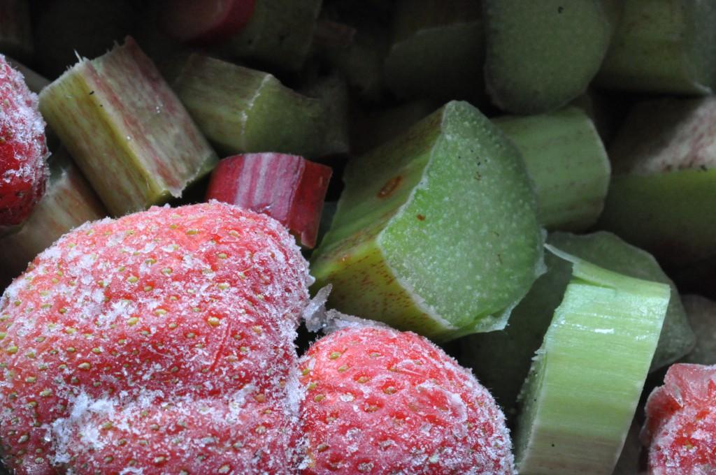 Sommersød jordbær/ rabarbermarmelade