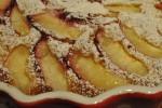 Lækker smørbagt frugttærte med nektariner