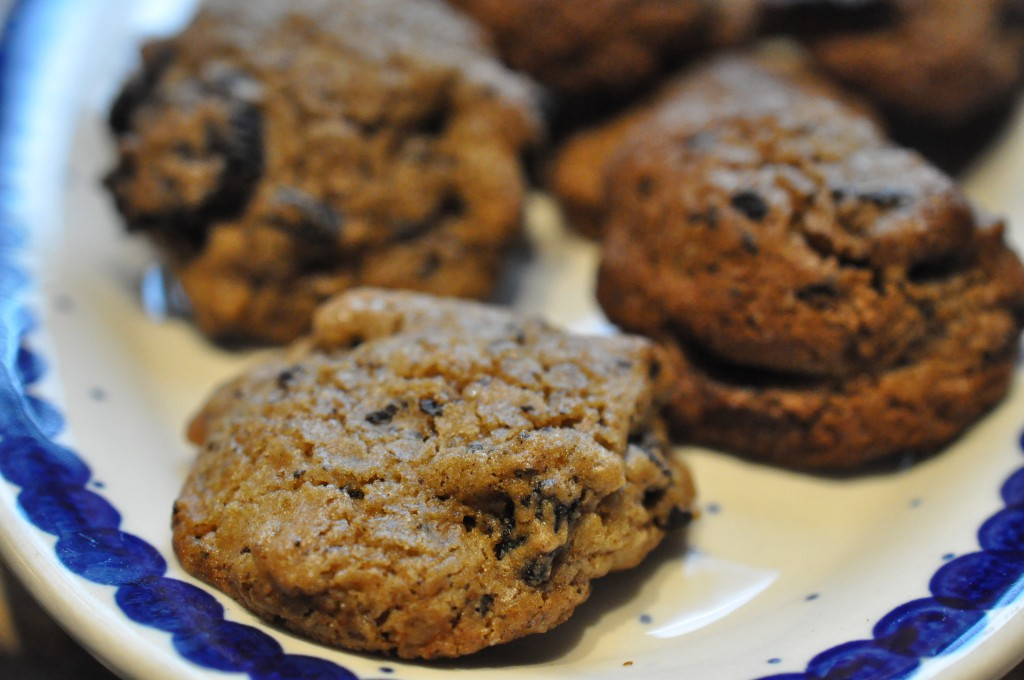 Lækre sprøde cookies med peanutbutter Oreos