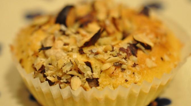 Hurtige lækre muffins med Nutella og hasselnødder