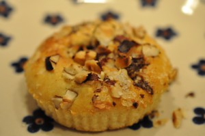Nemme lækre muffins med Nutella og hasselnødder