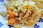 Karrykål med bacon og gulerødder – billigt, nemt og sundt
