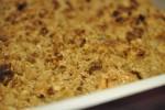 Lækker sprød æblecrumble med kardemomme og kanel