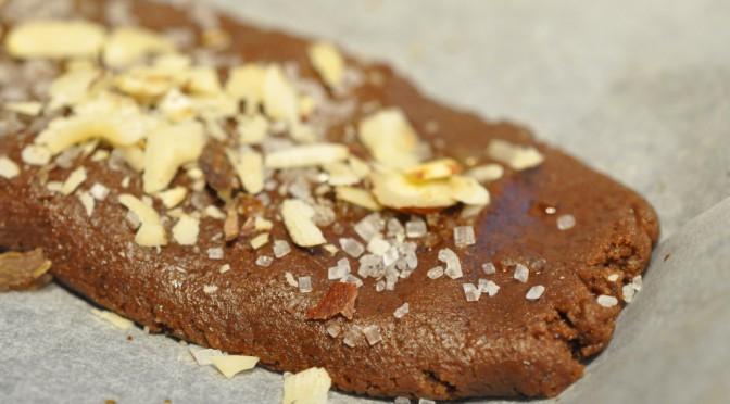 Sprøde chokoladesnitter med espresso og Amarettolikør