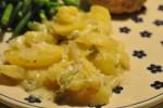 Kalorielette flødekartofler med porrer og hvidløg i stegeso