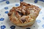 Lækre muffins med æble, citron, marcipan og kaneldrys