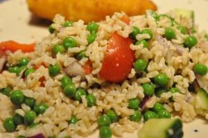 Lækker rissalat med grønt og kylling Cordon Bleu