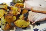 Kartofler i ovn med hvidløg og timian - opskrift
