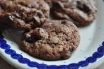 Nemme cookies med chokolade, Nutella og hasselnødder