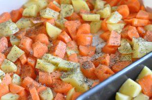 Helstegt kylling og timiankartofler - nemt og lækkert