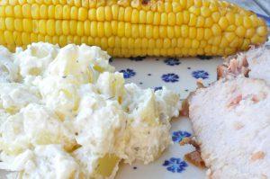 Kartoffelsalat med creme fraiche og timian