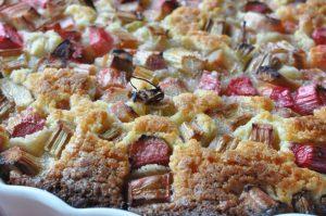 Nem og lækker smørbagt rabarbertærte