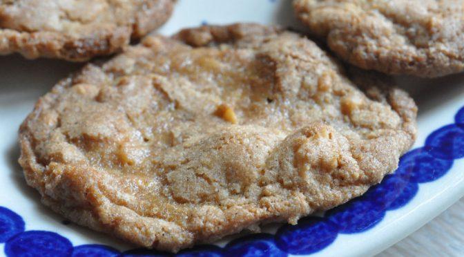 Nemme sprøde cookies med vanilje, salt og hasselnødder