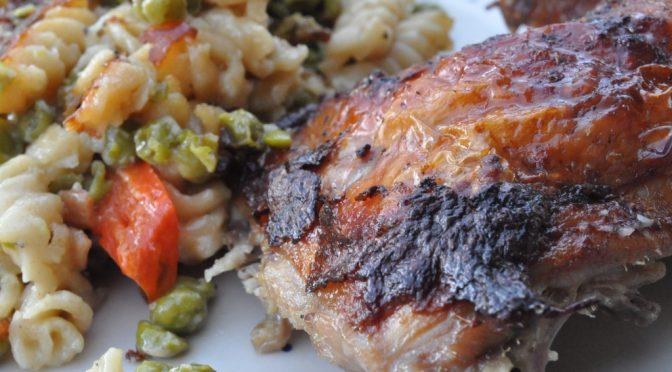 One pot pasta – grillkylling på fløde gratineret pasta