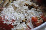 Pasta med pesto, tomater og frisk parmesan