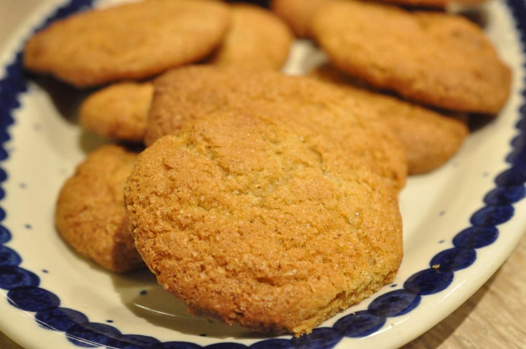 Cookies med ingefær og nellike - julesmåkager