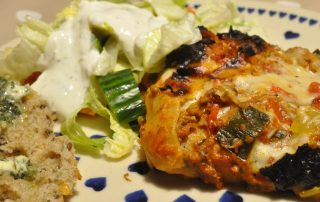 Lasagne proppet med grøntsager og parmesan bechamelsauce