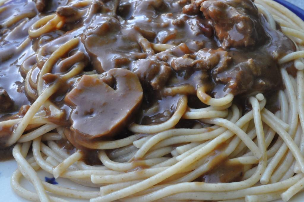 Millionbøf med svinekød, soya og flødeost