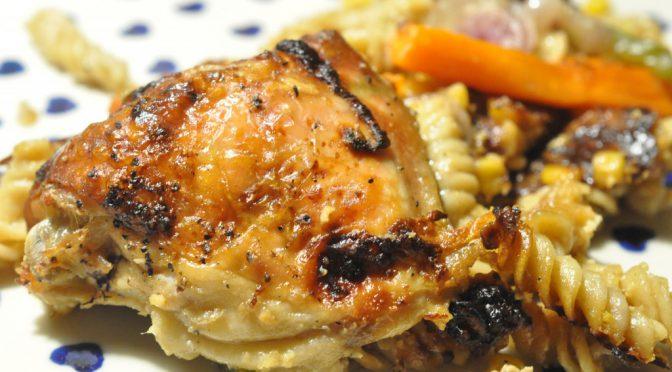 One pot pasta med kylling, fløde og grøntsager – SÅ lækkert!