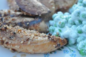 Grillet kyllingeinderfilet i soya- sesammarinade