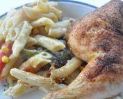 One pot pasta med kylling & grøntsager i ovn