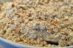 Rabarbercrumble med havregryn og marcipan - nem og lækker
