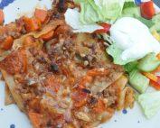 Lasagne med grøntsager uden bechamelsauce