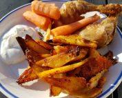 Pommes frites med paprika - sprøde, krydrede fritter