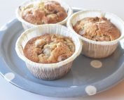 Makronmuffins med rabarber - muffins opskrift