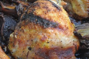 Kylling med honning, karry og rødløg