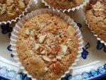 Muffins med makron, mandler og chokolade – små makronkager
