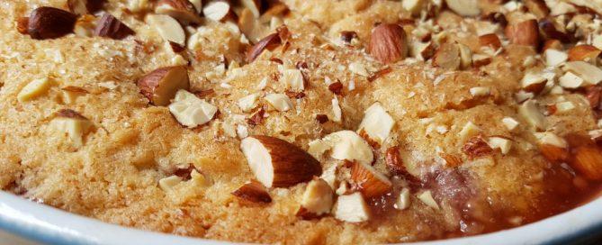 Rabarber crumble med kokos og mandler