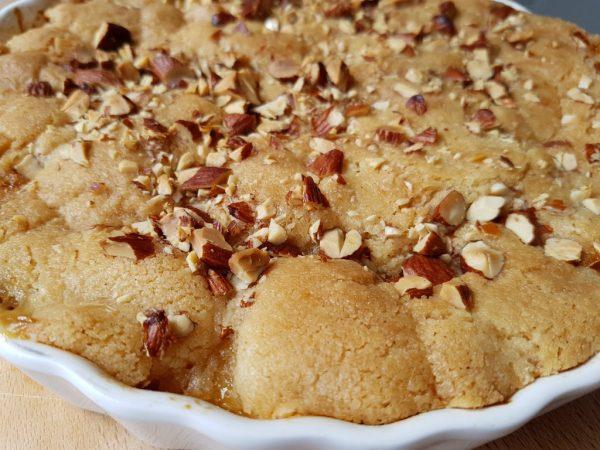 Pæretærte med ingefær og mandler - SÅ nem og lækker