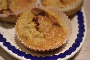 Bananmuffins med Yankie Bar - nemme, svampede og lækre