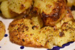 Smashed potatoes - knuste kartofler - sprøde og lækre