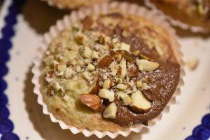 Muffins med banan og Nutella - nemme og lækre