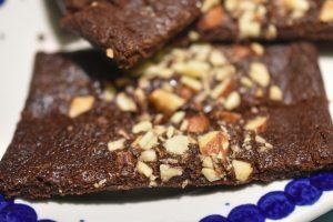 Chokoladesnitter med nougat og mandler - sprøde og lækre