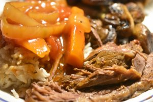 Culottesteg med tomatsauce i crockpot - mør og lækker