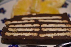 Kiksekage med orangesmag - ment lavet af kondenseret mælk
