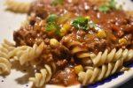 Spaghetti Bolognese med jalapenos - langtidssimret i crockpot