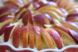 Æbletærte med kokos og marcipan - nem og lækker