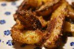 Sprød paprika kylling med rasp og sprøde pommes frites