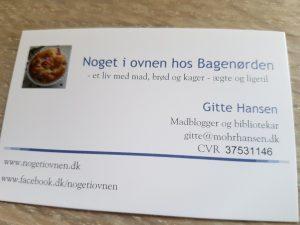 Madbloggeren Noget i ovnen hos Bagenørden