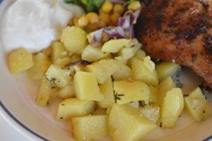 Kartofler på grill - kartoffelpakker med oregano og hvidløg