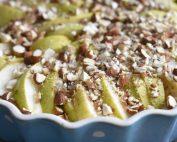 Pæretærte - kage med pærer & mandler opskrift
