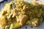 One Pot ris med kylling, karry og kokosmælk – nemt og lækkert