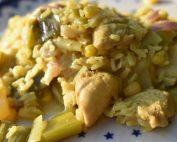 One Pot opskrift med ris, kylling og karry